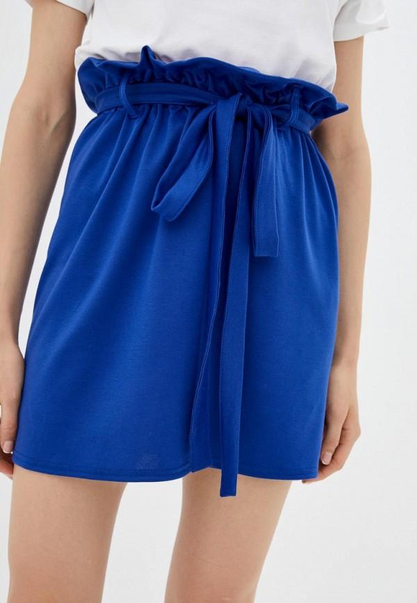 женская прямые юбка подіум, синяя