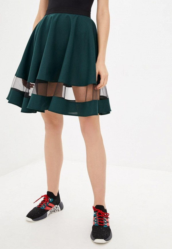 женская юбка подіум, зеленая