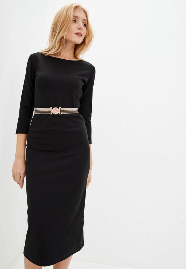 женское платье-футляр ora, черное
