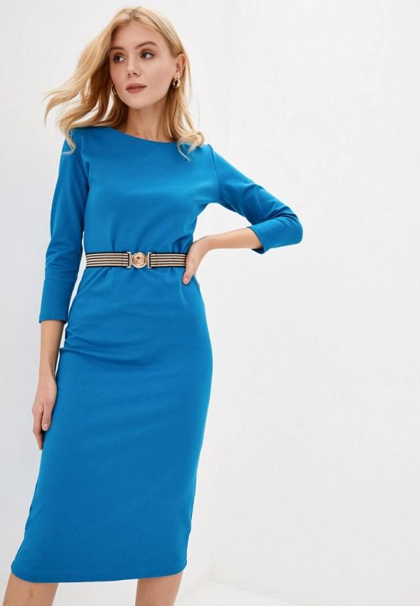 женское платье-футляр ora, голубое
