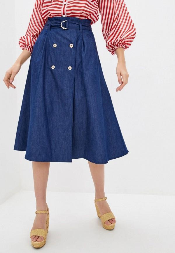 женская джинсовые юбка ora, синяя