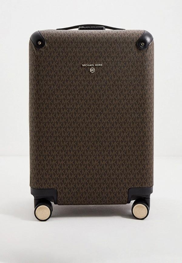 женский чемодан michael kors, коричневый