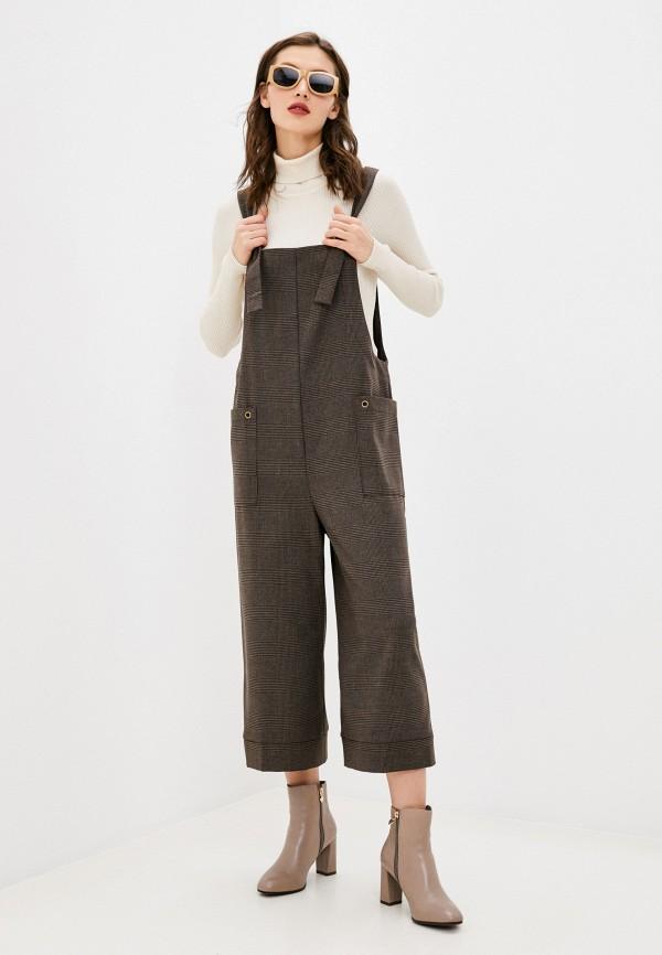 женский комбинезон с брюками adzhedo, коричневый