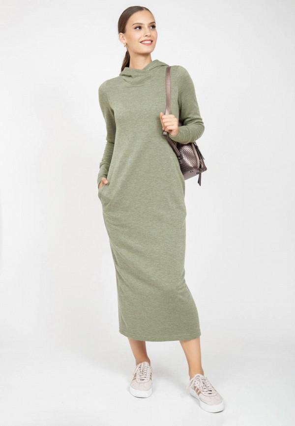 женское платье-толстовки grey cat, зеленое