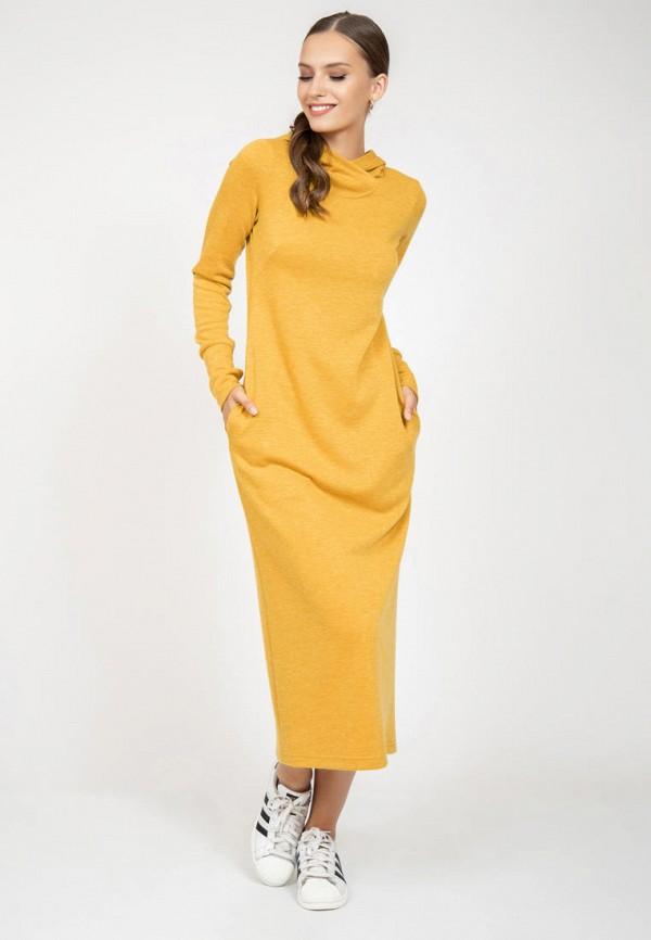 женское платье-толстовки grey cat, желтое