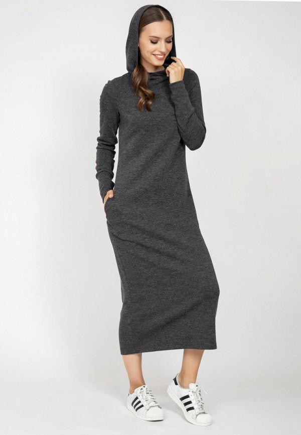 женское платье-толстовки grey cat, серое