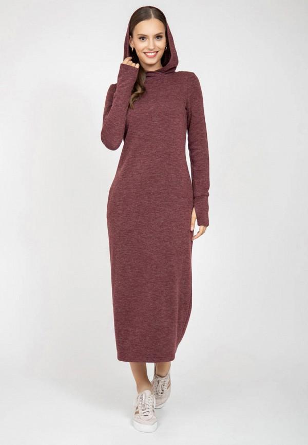 женское платье-толстовки grey cat, бордовое