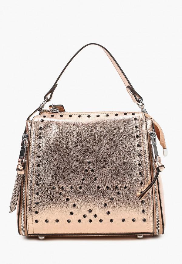 женская сумка с ручками marco bonne', золотая