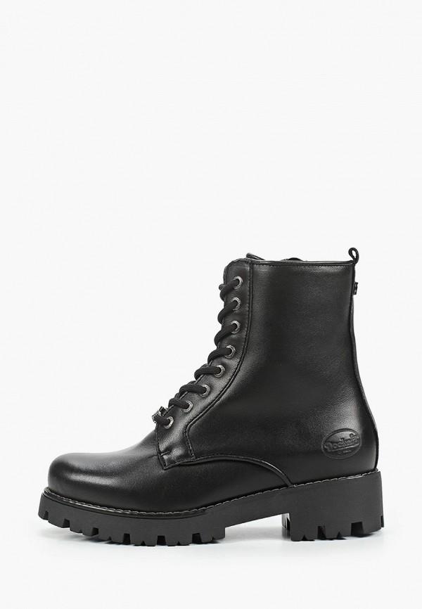 женские низкие ботинки dockers by gerli, черные