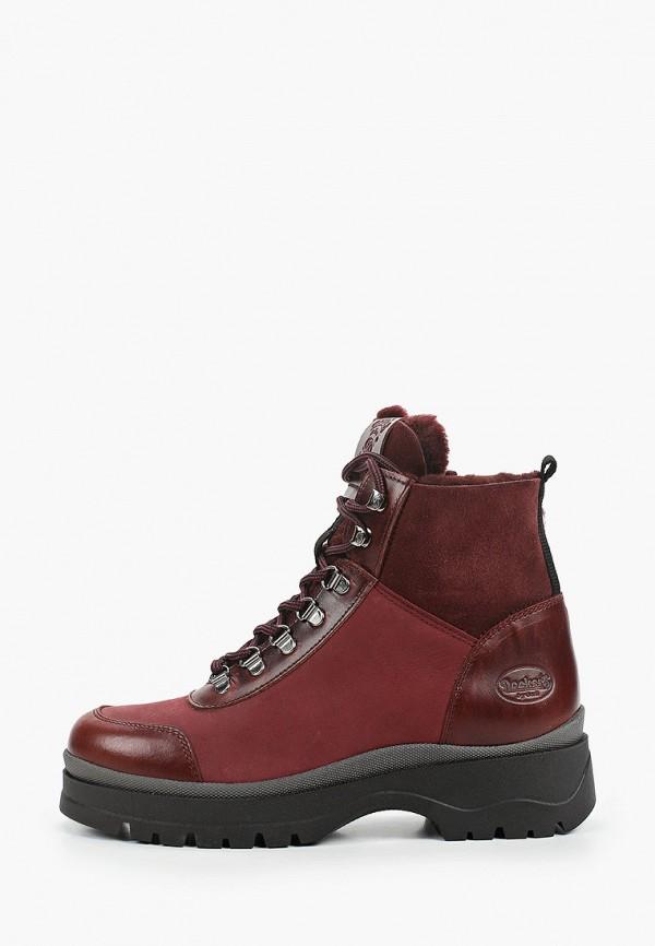 женские высокие ботинки dockers by gerli, бордовые