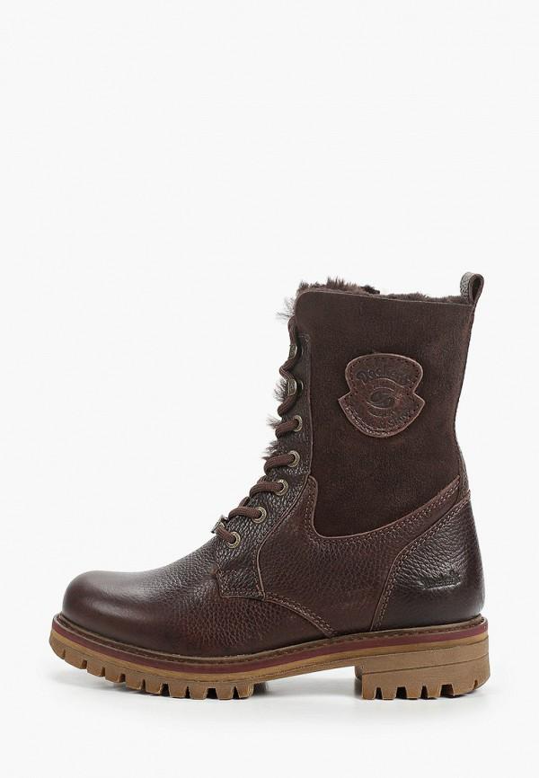 женские высокие ботинки dockers by gerli, коричневые