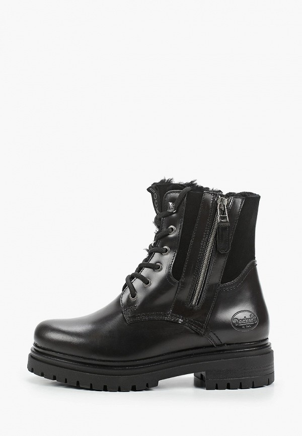 женские высокие ботинки dockers by gerli, черные