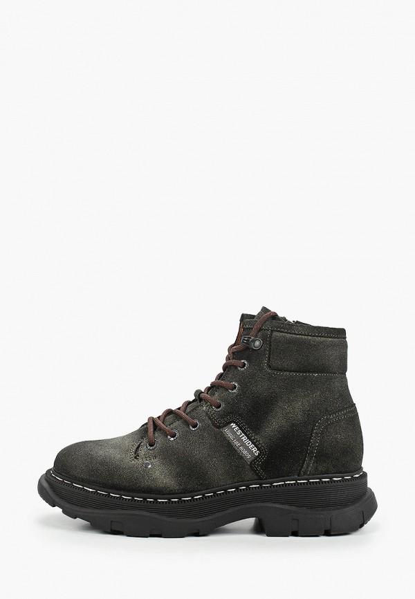 женские высокие ботинки westriders, зеленые