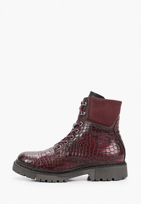 женские высокие ботинки westriders, бордовые