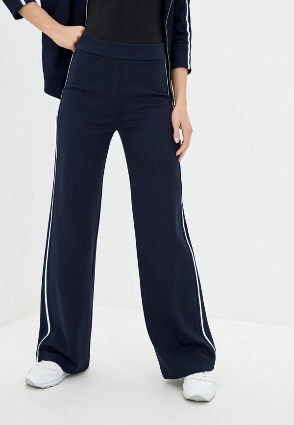 женские брюки клеш ora, синие