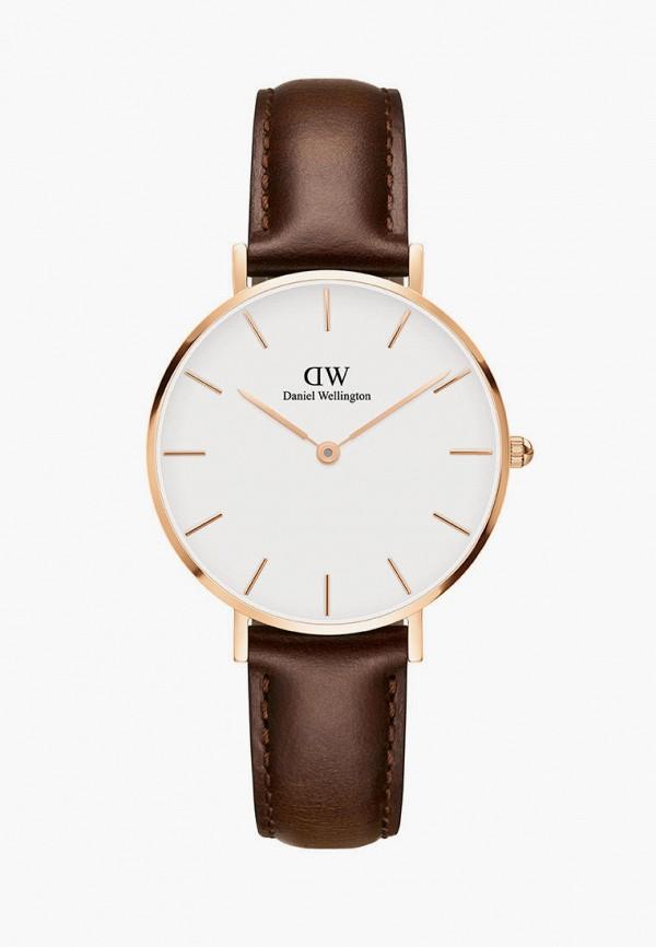 женские часы daniel wellington, коричневые