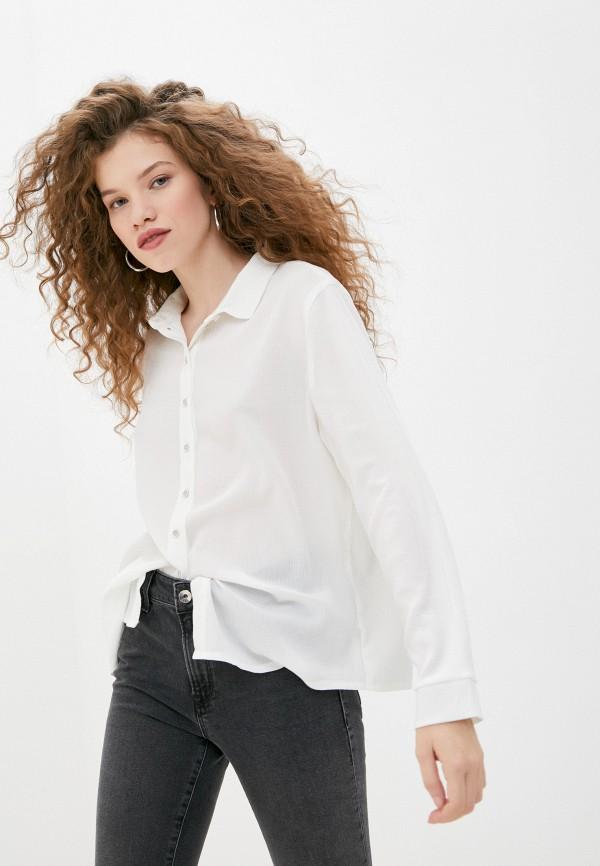 женская блузка с длинным рукавом mark formelle, белая