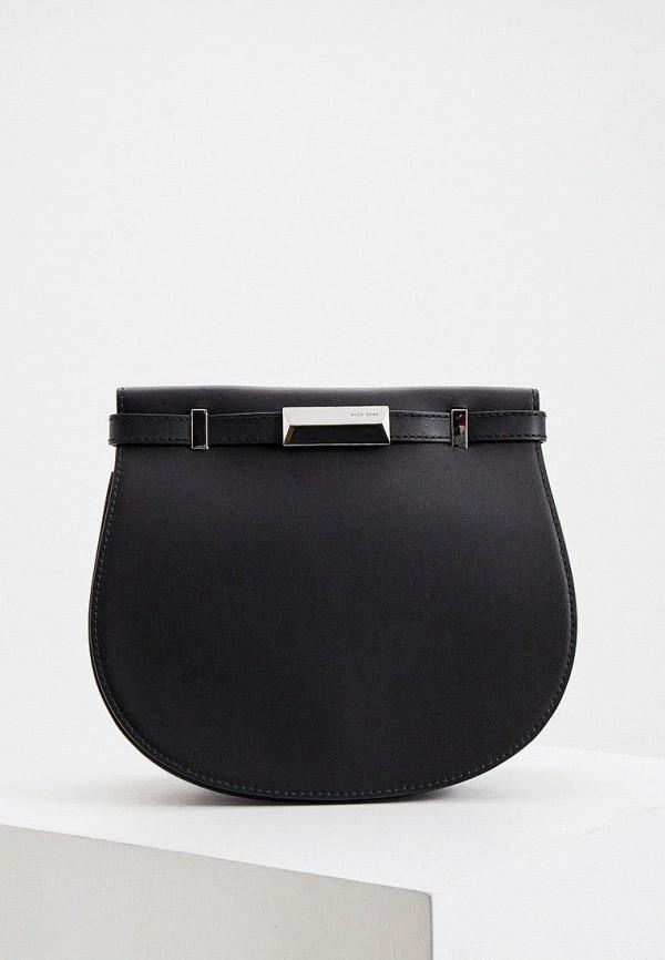 женская сумка через плечо boss, черная