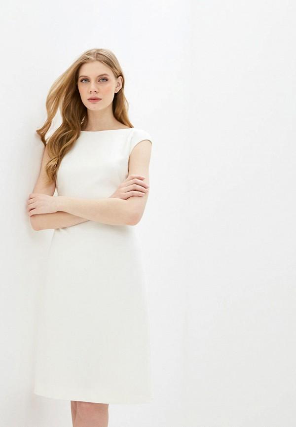 женское платье-футляр boss, белое