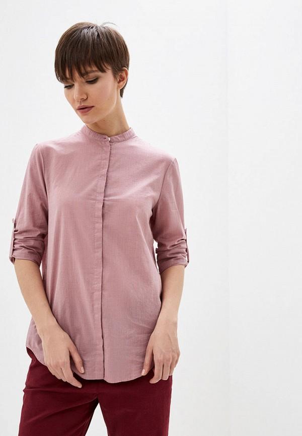 женская блузка с длинным рукавом boss, розовая