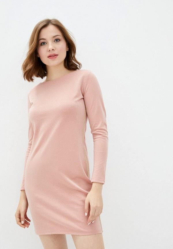 женское повседневные платье ora, розовое