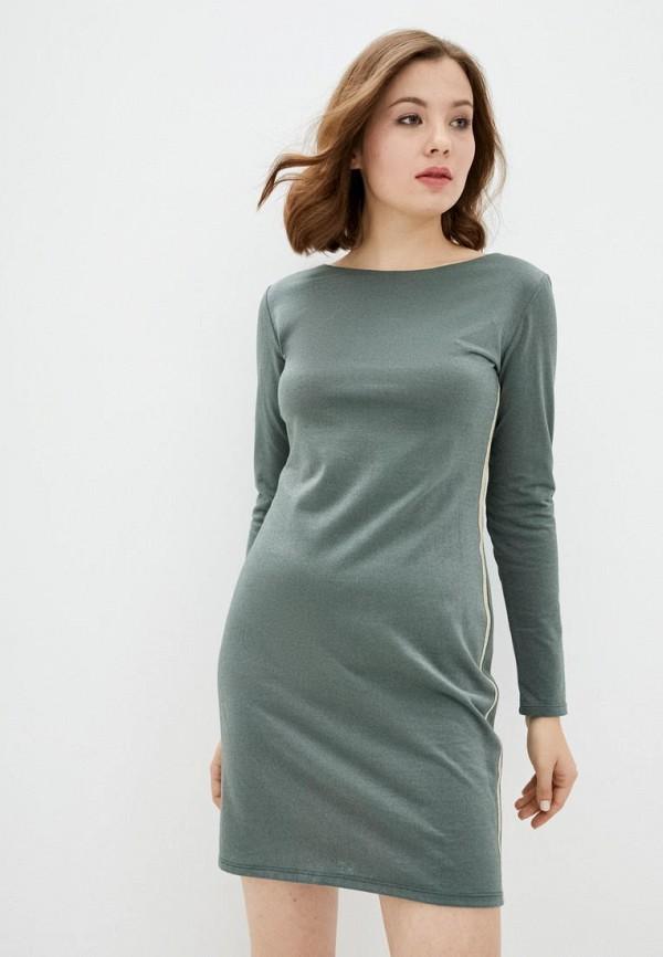 женское повседневные платье ora, бирюзовое