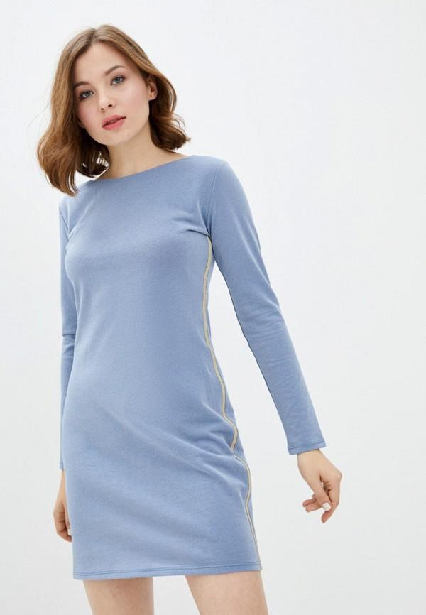 женское повседневные платье ora, голубое
