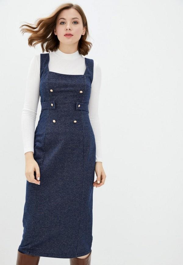 женское повседневные платье ora, синее