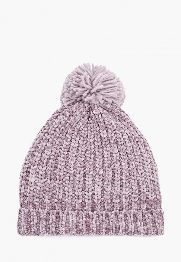 женская шапка befree, фиолетовая