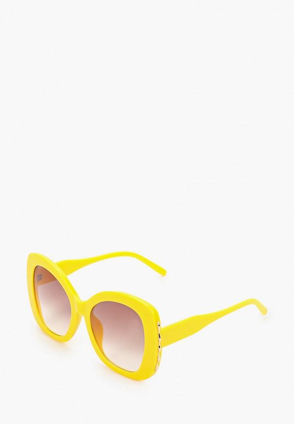 женские квадратные солнцезащитные очки красная жара, желтые