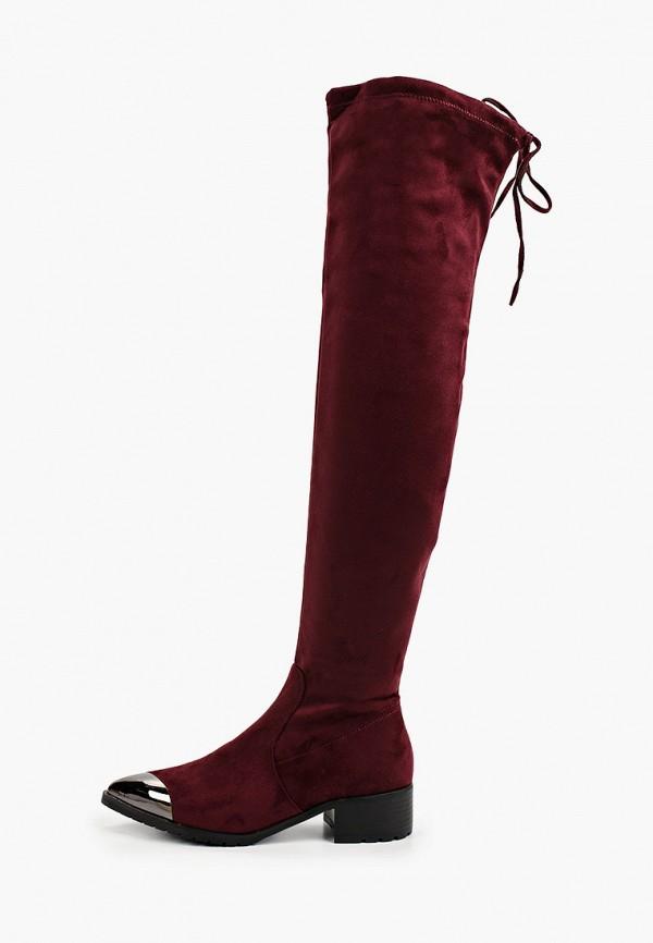 женские ботфорты араз, бордовые