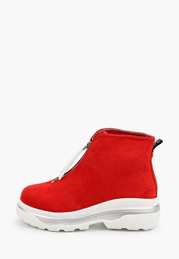 женские высокие ботинки араз, красные