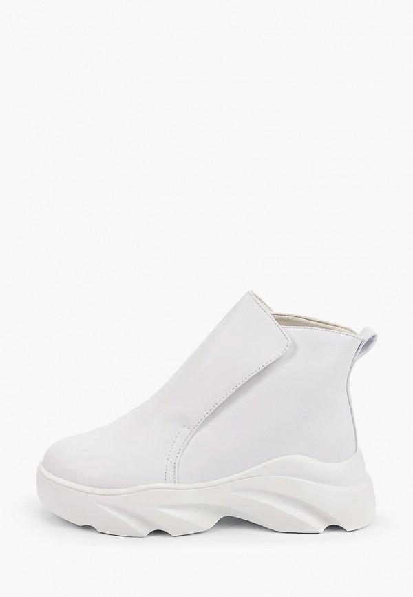 женские высокие ботинки араз, белые