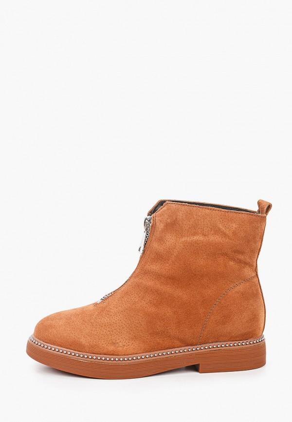 женские высокие ботинки араз, коричневые