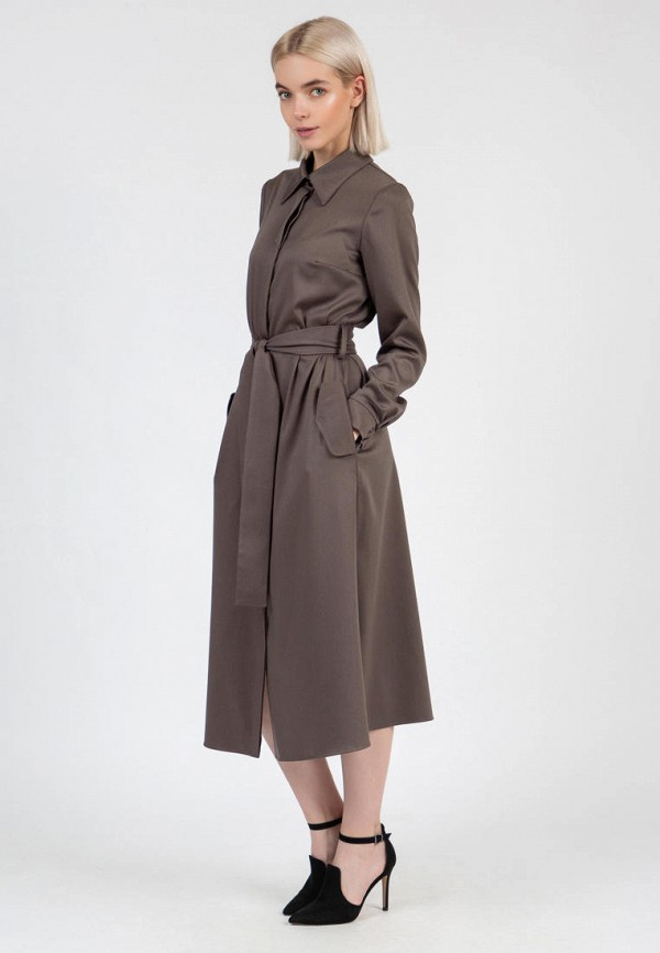 женское платье-рубашки olivegrey, коричневое
