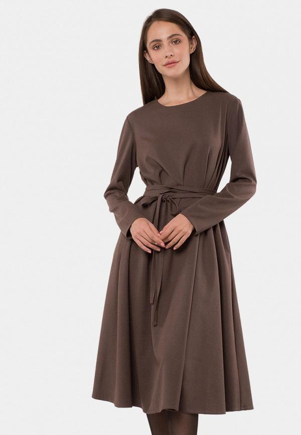 женское повседневные платье mr520, коричневое