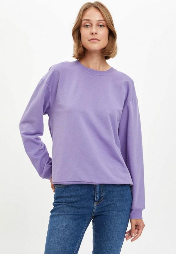 женский свитшот defacto, фиолетовый