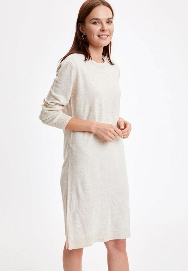 женское платье defacto, бежевое
