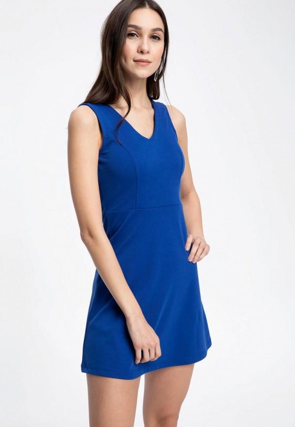 женское платье defacto, синее