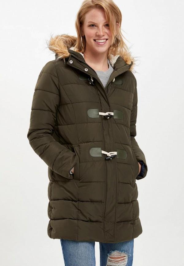 женская куртка defacto, хаки