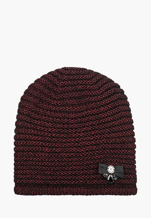 женская шапка vntg vintage+, бордовая