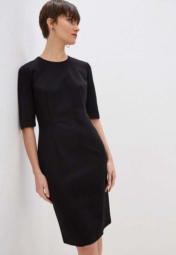 женское повседневные платье boss, черное
