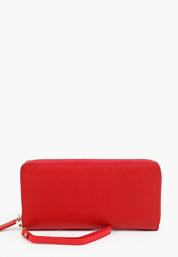 женский кошелёк russian look, красный