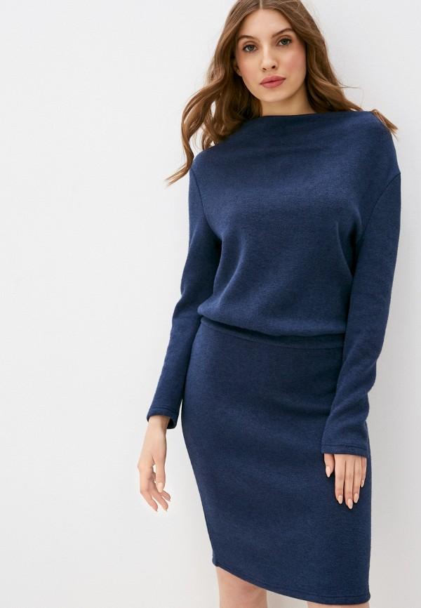 женское платье-свитеры viserdi, синее
