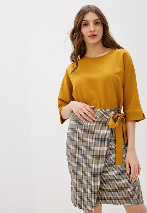 женское повседневные платье viserdi, желтое