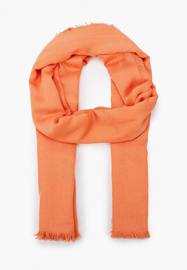 женский палантин hugo, оранжевый