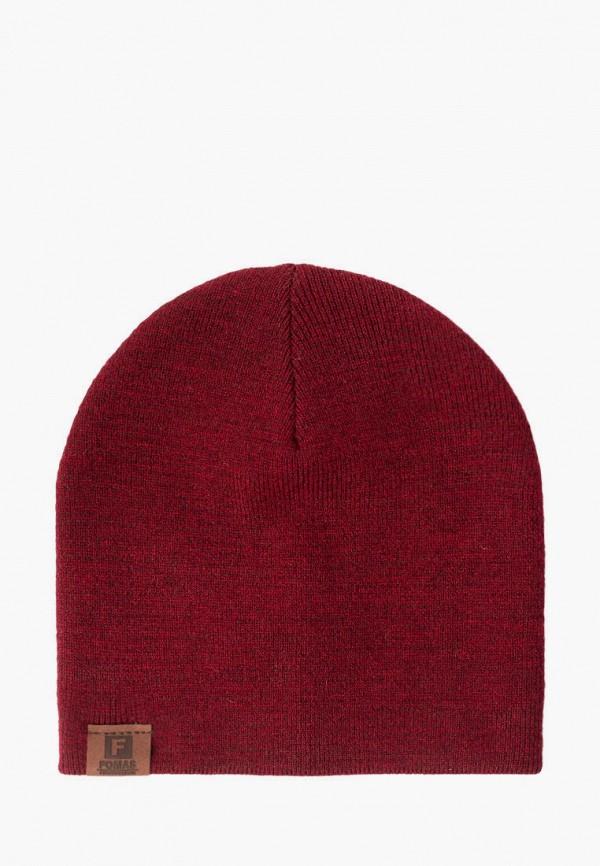 женская шапка fomas, бордовая