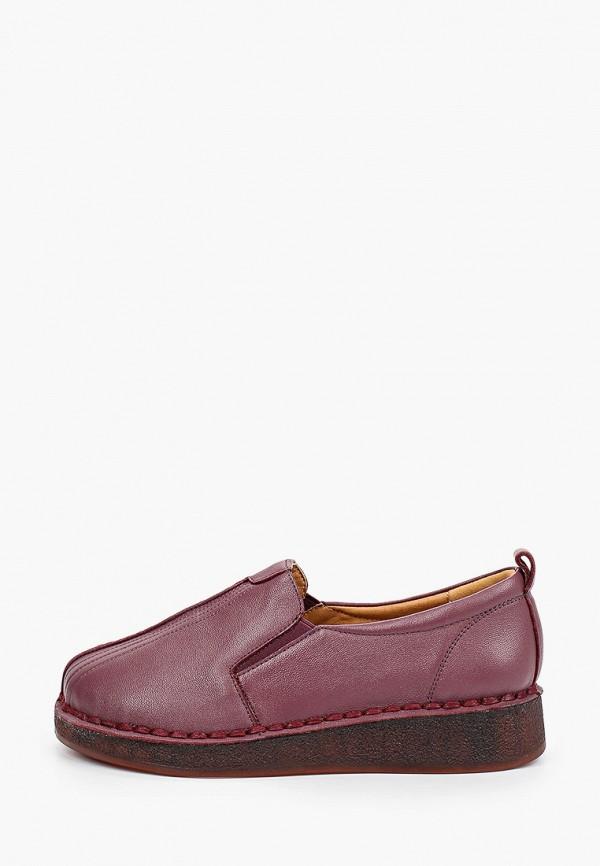 женские туфли с закрытым носом makfine, бордовые