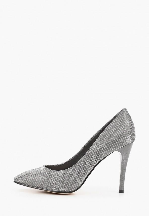 женские туфли-лодочки makfly, серые