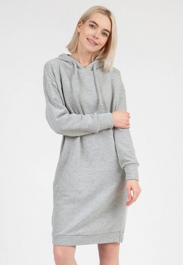 женское платье-толстовки olivegrey, серое